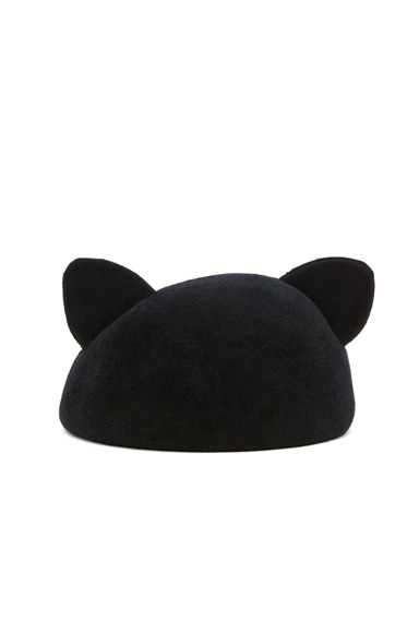 Caterina Velour Felt Cat Ears Beret