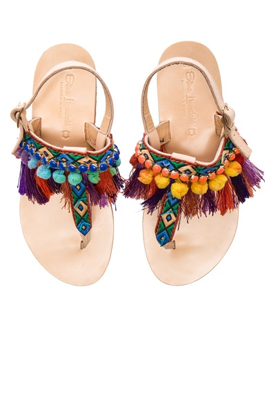 Leather Dizzy Parrot Sandals