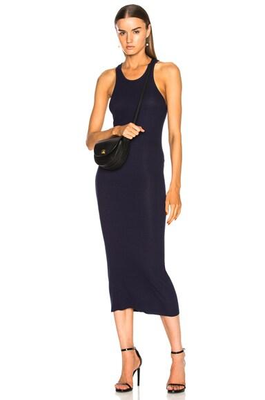 Rib Sheath Tank Midi Dress