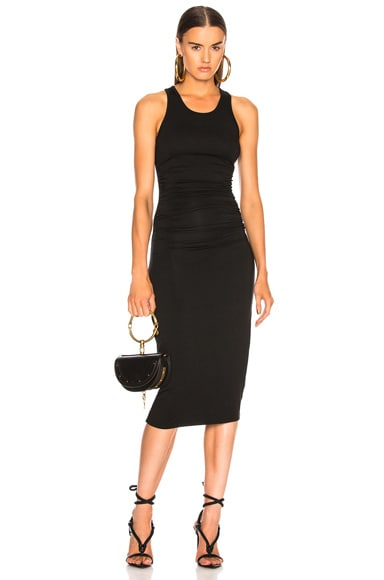 Jersey Side Ruched Midi Dress by Enza Costa