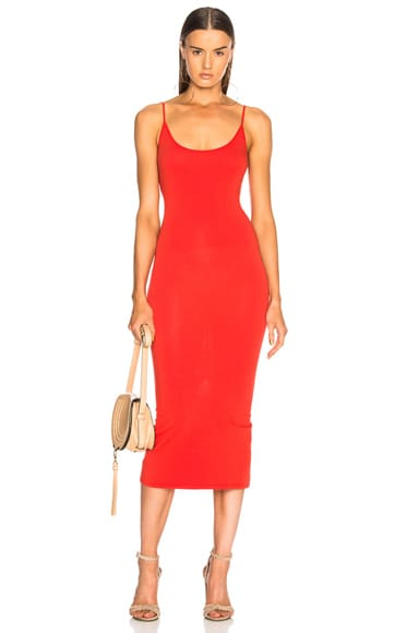Jersey Back Slit Dress