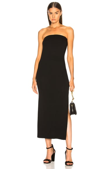 Matte Jersey Side Slit Dress