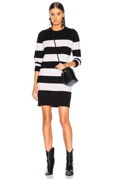 Cashmere Stripe Mini Dress