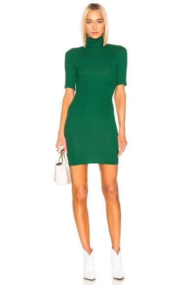 Half Sleeve Turtleneck Mini Dress