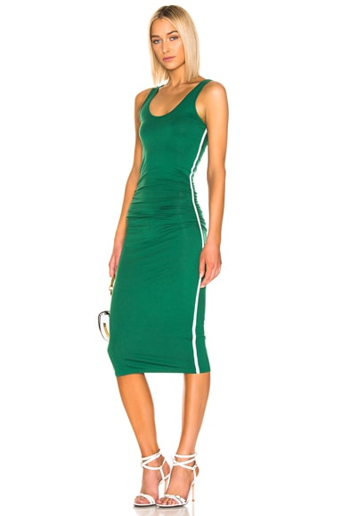 Jersey Side Ruched Midi Dress