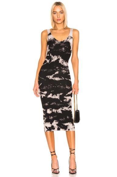 Silk Rib Tank Midi Dress