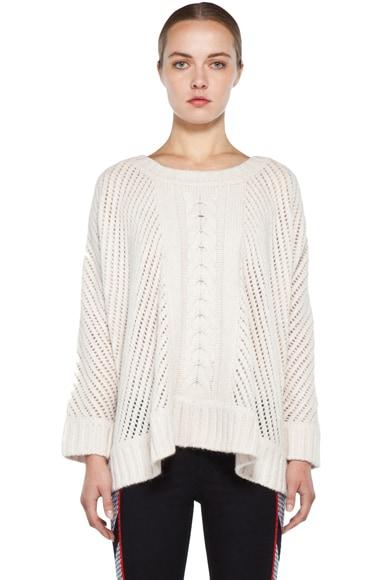 Oversize Basketweave Sweater