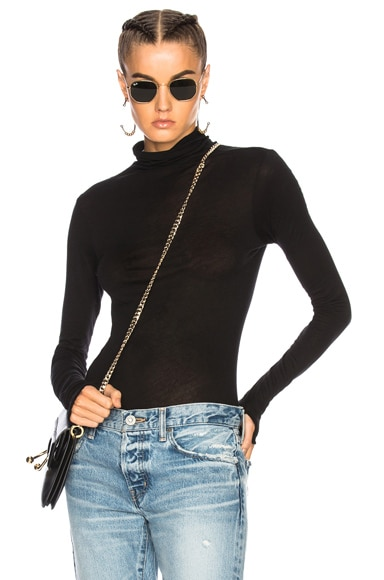 Fitted Turtleneck Top