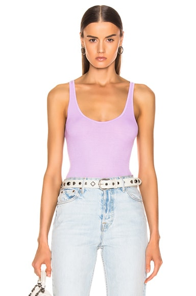 Rib Scoop Neck Tank