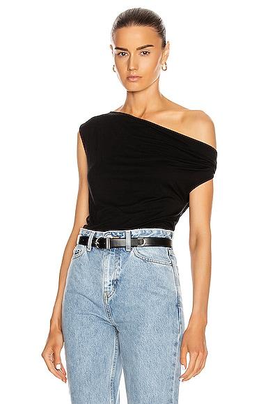 Silk Jersey Off Shoulder Top