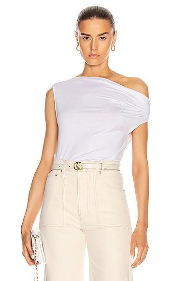 for FWRD Silk Jersey Off Shoulder Top
