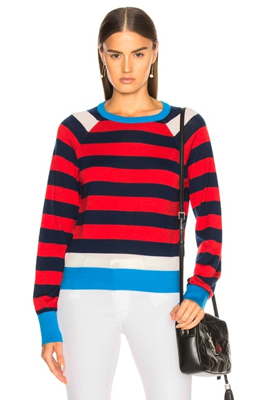 Axel Cropped Striped Sweater