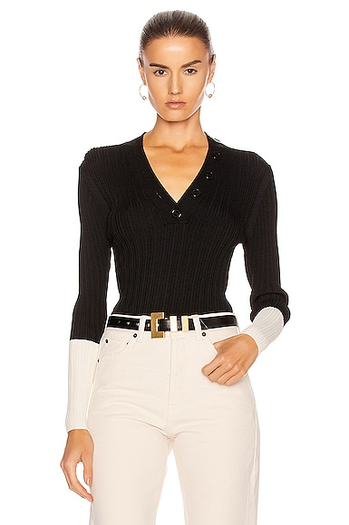Adonide V-Neck Knit Top