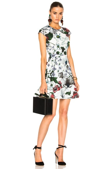 Darlina Yuki Garden Neoprene Jersey Dress