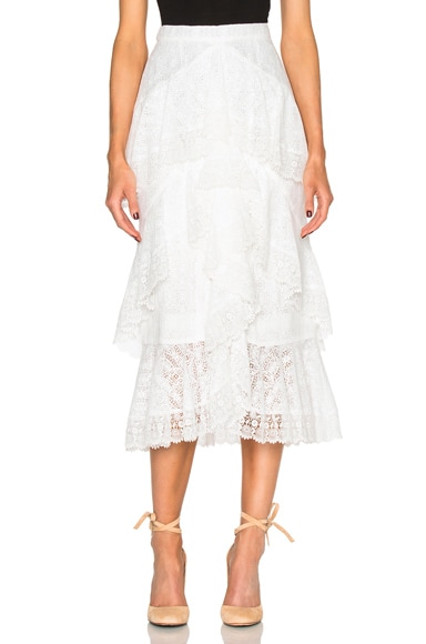 Simone Crochet Lace Skirt