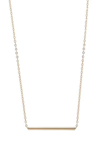 14K Gold Bar Choker