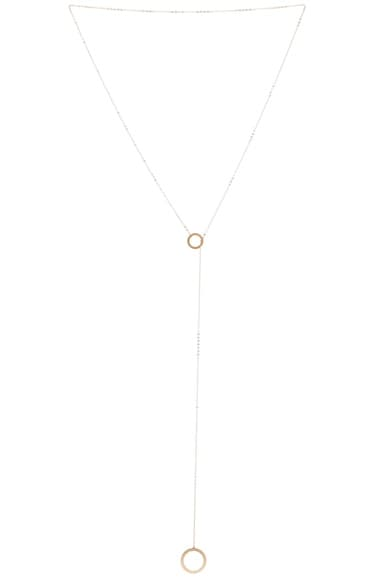 14K Gold Drop Ring Necklace