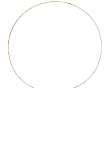 14K Gold Thin Choker