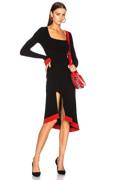 Long Sleeve Corset Knit Dress