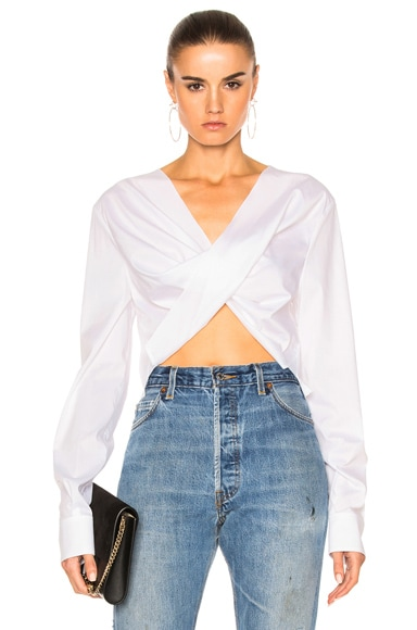 Poplin Asymmetric Top