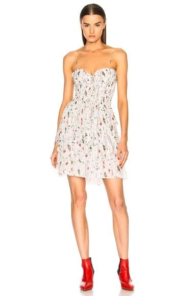 Elma Printed Chiffon Silk Dress