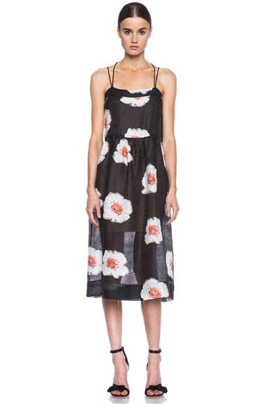 Isabel Marant Etoile Renee Linen Blend Dress In Black