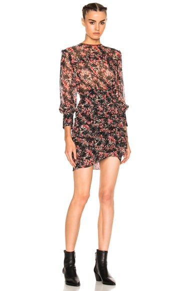 Jirvina Flowers Camouflage Mini Dress