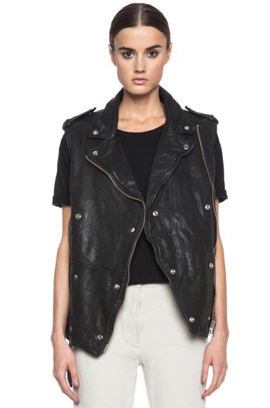 Bracken Washed Lambskin Leather Vest
