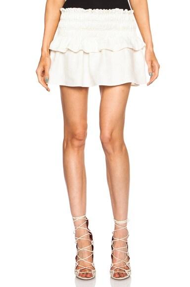 Crista Linen-Blend Skirt