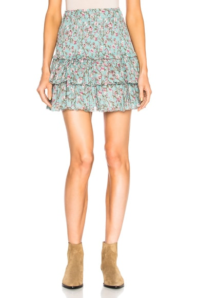 Naomi Printed Embroidered Mini Skirt