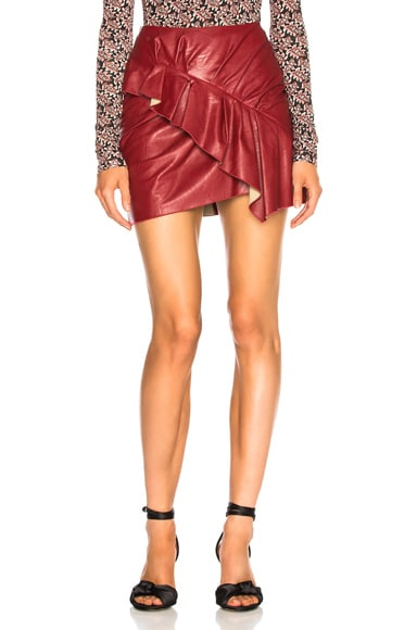 Faux Leather Zeist Skirt