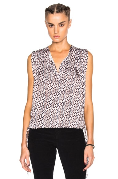 Harvey Pleated Print Top