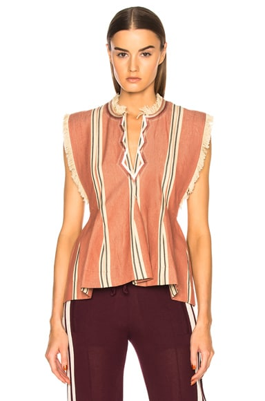 Drappy Summer Stripes Blouse