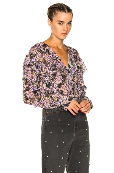 Jelby Flowers Camouflage Ruffled Blouse