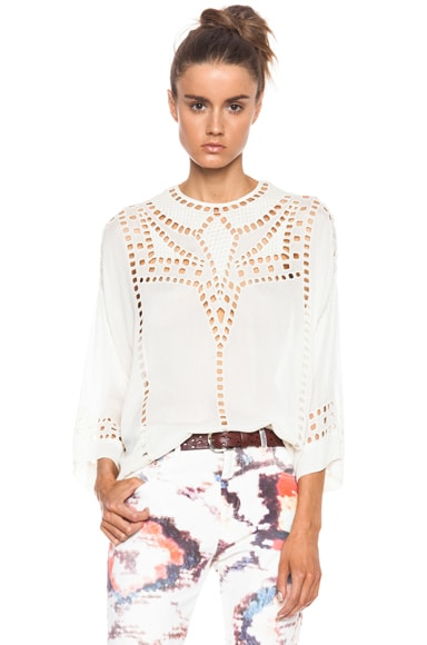 Ethan Embroidered Tunic Viscose Top