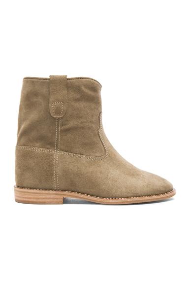 Crisi Calfskin Velvet Leather Boots