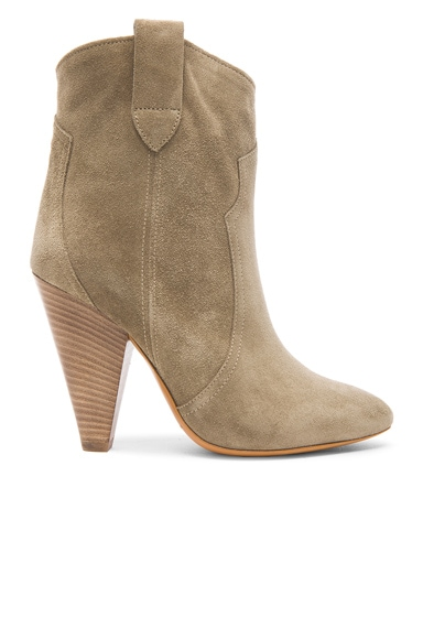 Roxann Calfskin Velvet Leather Booties