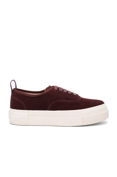 Suede Mother Sneakers in Oxblood