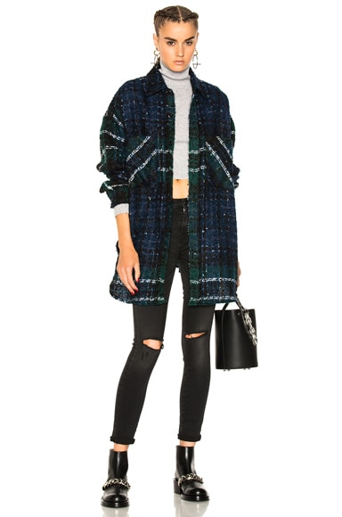 Tweed Oversized Shirt