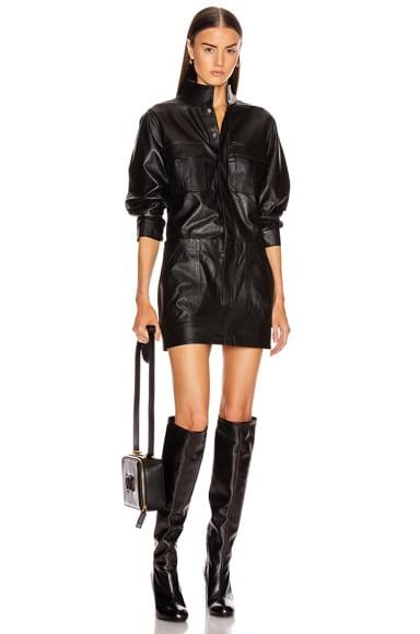 Leather Cargo Dress