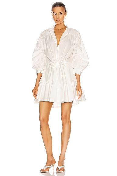 Frame RUCHED SLEEVE DRESS