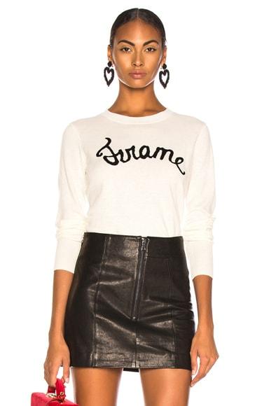 Cursive Sweater