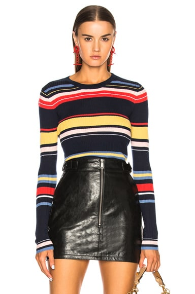 Panel Stripe Sweater