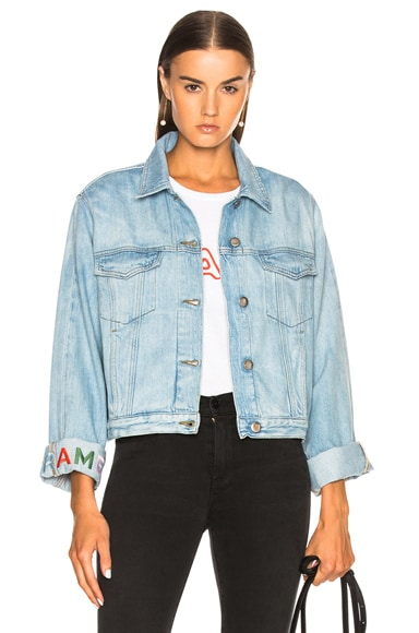 Embroidered Cuffed Jacket