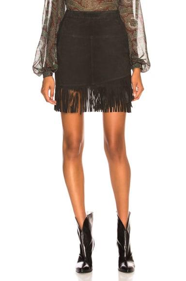 Fringe Overlay Skirt