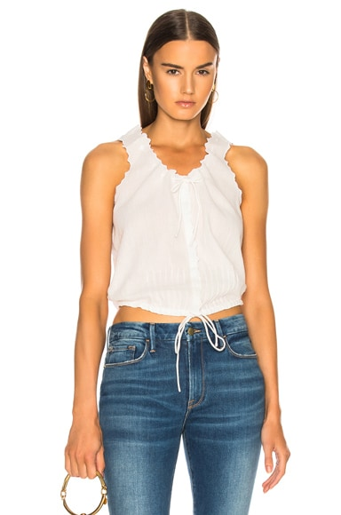 Eyelet Lace Up Top