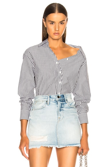 Aslant Button Up Top