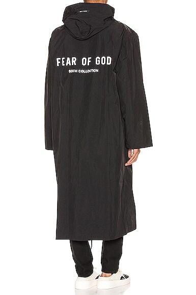 Logo Nylon Hooded Rain Jacket