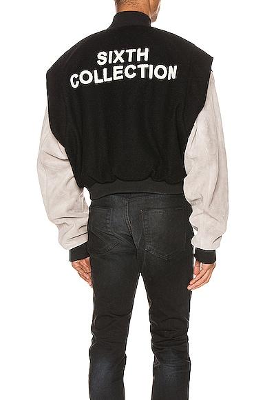Paneled Varsity Jacket