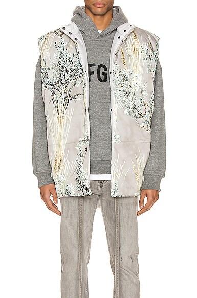 Reversible Nylon Oversized Camo Vest